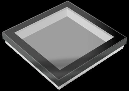 SkyVision FIXED - festverglastes, rechteckiges Flachdach-Oberlicht / Skylight (3D-Grafik)