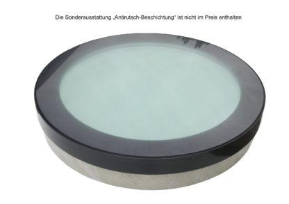 CIRCULAR WALK-ON - rundes, begehbares Oberlicht mit einer, nicht im Preis enthaltenen Sonderausstattung einer feinen Antirutsch-Beschichtung
