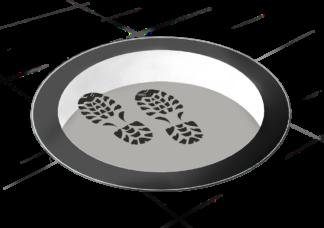 SkyVision CIRCULAR WALK-ON: Begehbares rundes Oberlicht mit einer Tragfähigkeit bis 500 kg pro m²