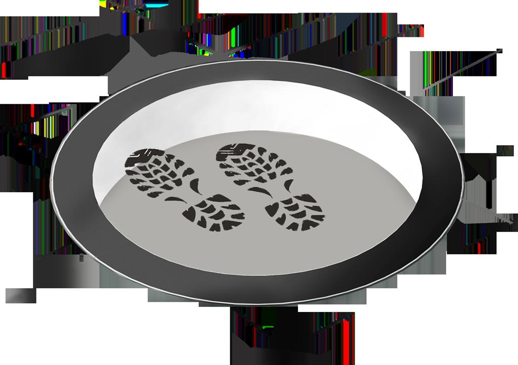 SkyVision CIRCULAR WALK-ON – rundes, begehbares Skylight (Oberlicht) und barrierefrier Glasboden (Grafik)