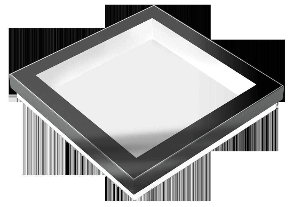 Festverglastes Design-Oberlicht für den Innen- und Außenbereich.