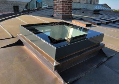 SkyVision FIXED Oberlicht auf einem Kupferdach