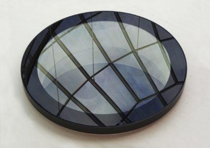 Rundes Oberlicht mit Spiegelung - montiert im Innenraum